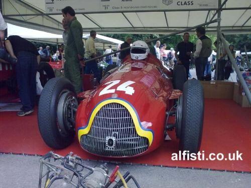 1951 Alfa Romeo Tipo 159 Alfetta at 2011 Goodwood Festival of Speed. alfisti.co.uk/gallery