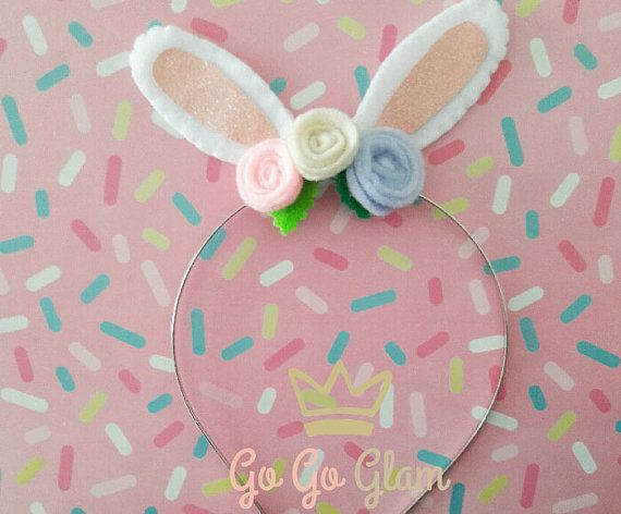 Complement for the girls outfit or costume Cute hairband for babies and girls for this easter. Customized sizes and colors Handmade headband Hand wash