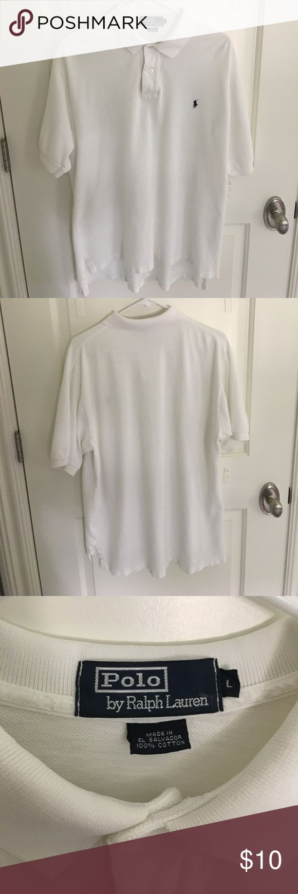 Vintage white Ralph Lauren Polo Knit weave. Pretty good condition Polo by Ralph Lauren Shirts Polos