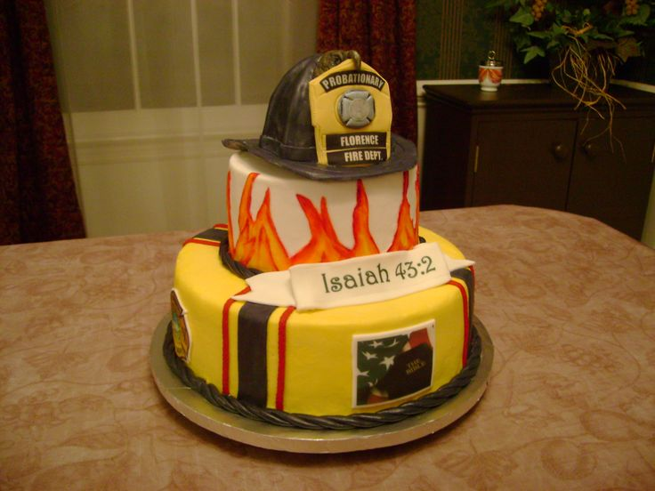 ... Photos - Fire Truck Graduation And Birthday Cake Military Police Fire