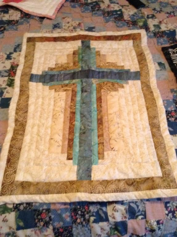 You Have To See Red Black Cross Wall Hanging On Craftsy