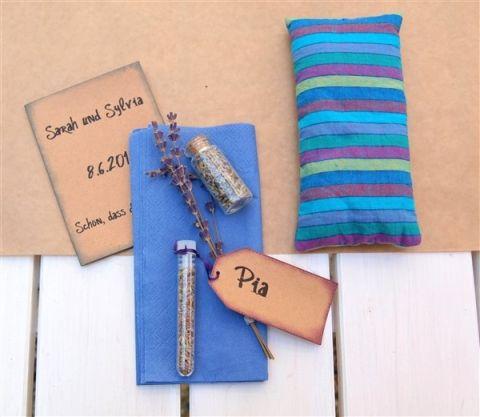 Lavendelkissen: Gastgeschenke für Kleinkinder und Babys für die Hochzeit – Bastelfrau