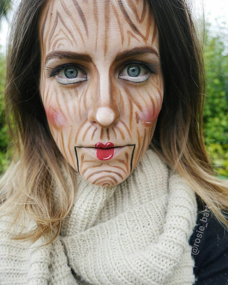 ^I've got no strings to hold me down; to make me fret, or make me frown^ (@rosie_bart) on Instagram #puppet #halloween #facepaint #cosplay