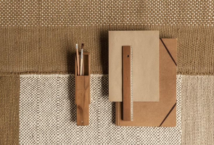 Tres Ochre is a flat-weave Dhurrie rug collection designed by Nani Marquina that combines wool, felt and cotton.