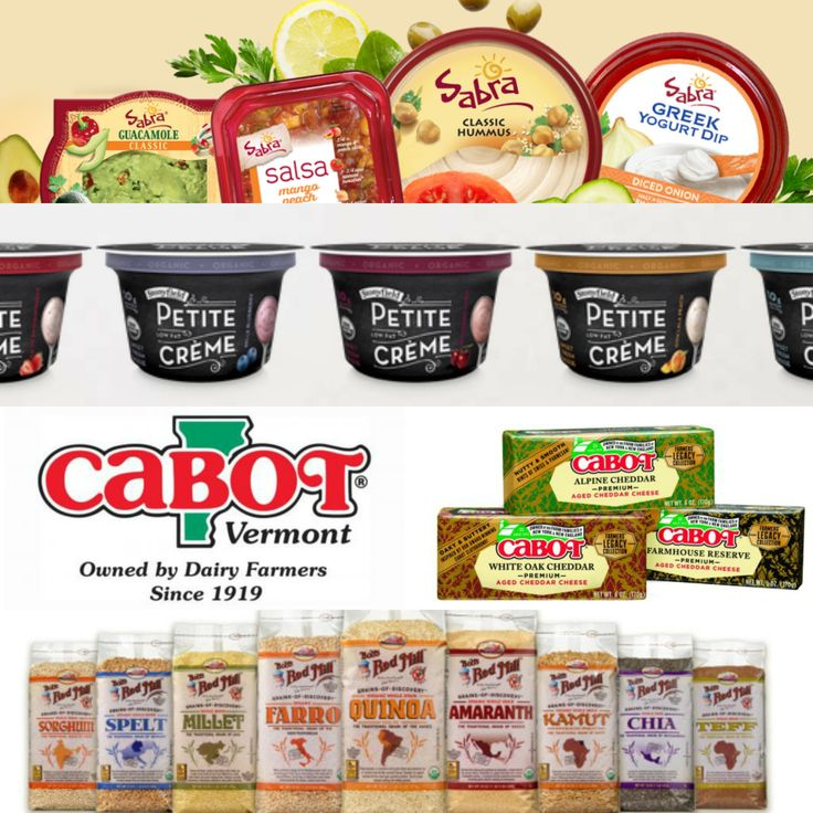 Sabra, Cabot Cheese, Stonyfield, and Bob's Red Mill Giveaway!