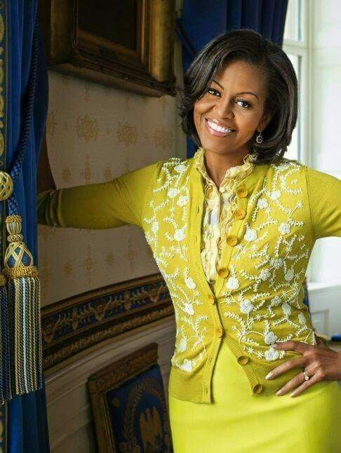 First Lady Michelle Obama. So beautiful - how can you not smile back??