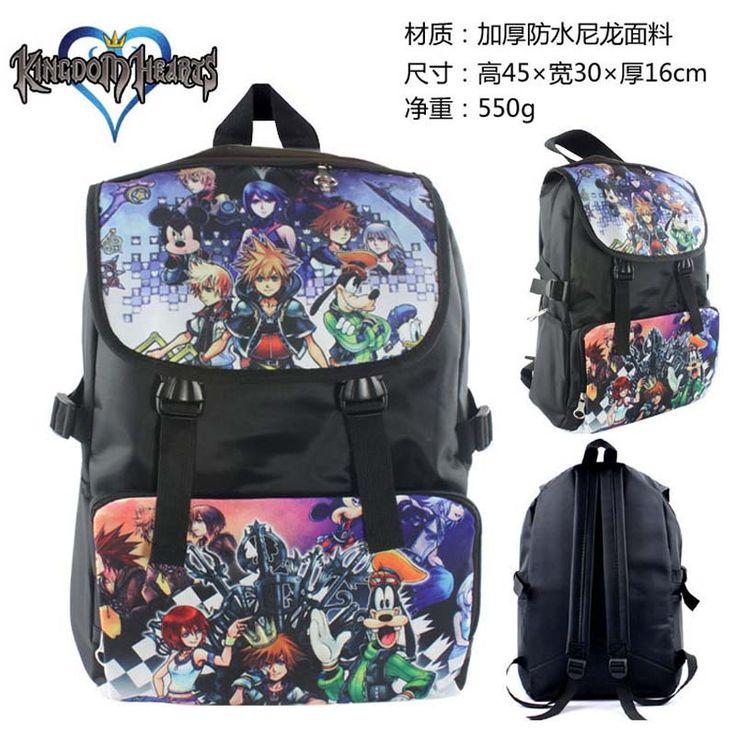 The unique Hot Sale Anime Kindom Hearts Sora Riku Kairi School Backpack Bag  -