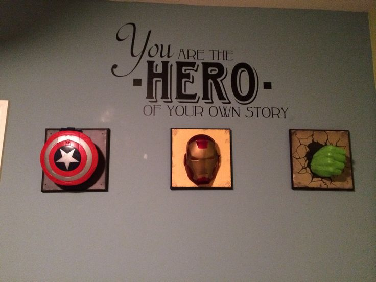 Maddox's super hero room I did