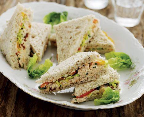 Sandwich med laksecreme