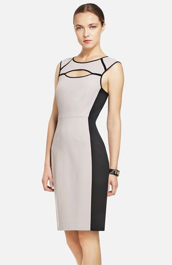 Colorblocked Sheath Dress / BCBGMAXAZRIA