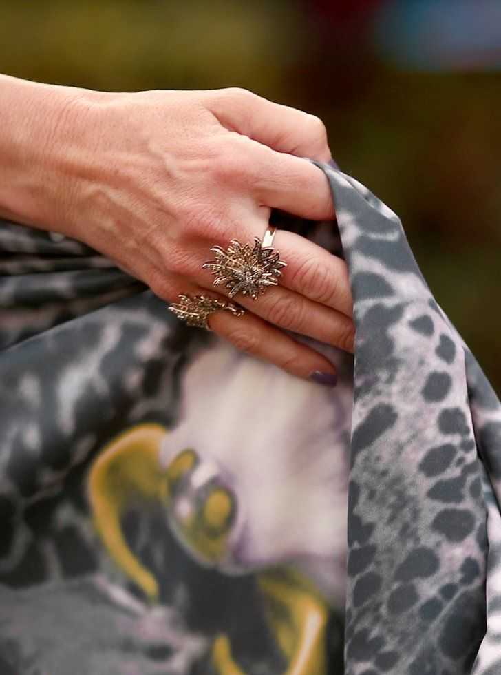 Pin for Later: The Shoes, Bags, and Jewels at the SAG Awards Shined Brighter Than You Could Ever Imagine Melora Hardin Wearing chunky silver rings.