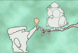 Vintage 1970's commercial tootsie pop..Let's ask Mr Owl. How many licks does it take to get to the center of a tootsie pop?