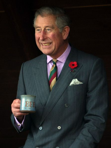 "Prince Charles....Smiling White Having A ""Cupa'""...Surely Seems To Me This Prince Has Mellowed With Age...And Is, At Last, Happy!!"