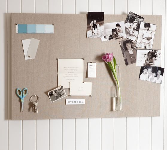 """Linen Pinboard   Pottery Barn  Small: 24"""" wide x 36"""" high $129"""