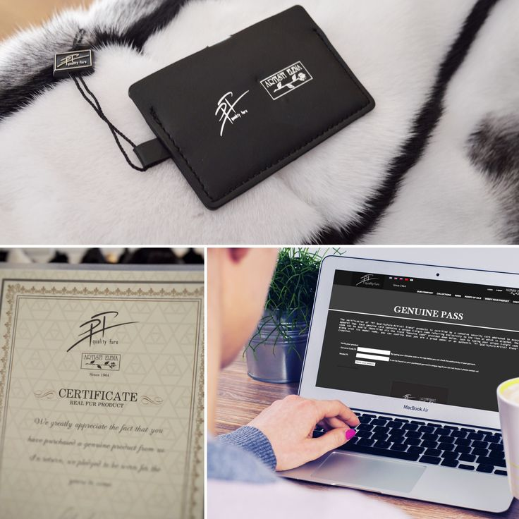 "The verification of ""PT- Artisti Elena furs"" products is certified by a cohesive security card addressed to every apparel tag, along with a Certificate of Real Fur. Each genuine card contains a unique 5-digit code referring exclusively to the item at which is attached. Just by typing your unique 5-digit code along with its model name, you can confirm that you are a proud owner of an authentic ""PT- Artisti Elena furs"" creation."