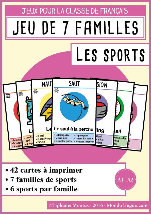 Häufig 106 best Jeux FLE images on Pinterest | Teaching french, French  UZ25