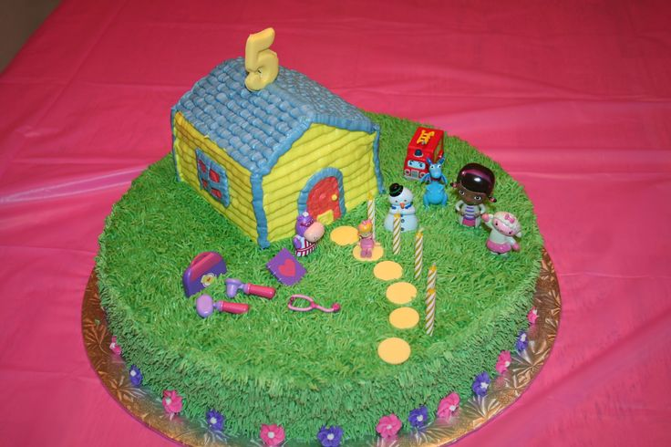 Doc McStuffins cake I made for Courtney's 5th birthday, Feb 2014.