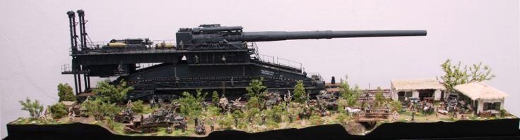 "Diorama ""Eisenbahngeschütz DORA"""