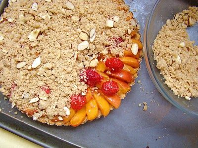 Apricot-Raspberry Marzipan Tart: A2 Sugar, Shauna Sever, Door Baker, Apricot Raspberry Marzipan