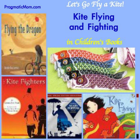 Children's Day in Japan is May 5th and it's also National Kite Month. Kite Flying KidLit and more! :: PragmaticMom