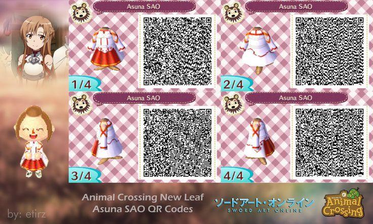 Animal Crossing NL: Asuna (SAO) QR Codes By Etirz On