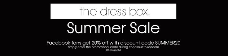 PRE-LAUNCH SUMMER SALE has begun. Like us on FB to gain access to great discounts and offers www.facebook.com/thedressb0x