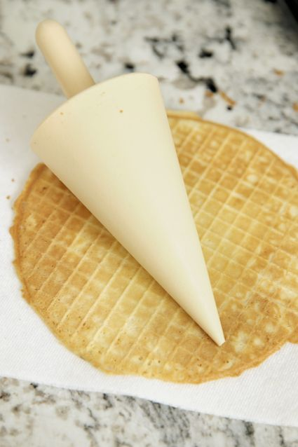 Waffle Cone Mold - DIY - how to make homemade waffle cones for ice cream!!!