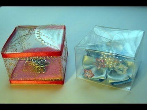 Пластиковая коробка для подарков из бутылки своими руками