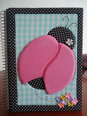 Delicadezas de Mamãe: Caderno em Patchwork Embutido!