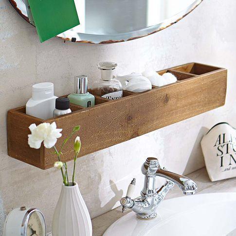 Idées d'étagère de salle de bain
