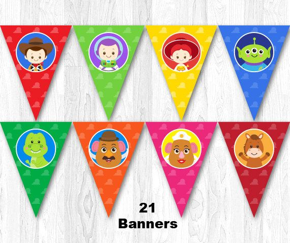 Toy Story Birthday Banner Toy Story Birthday Party by KidzParty