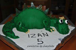 virutillas de chocolate   : tarta dragon
