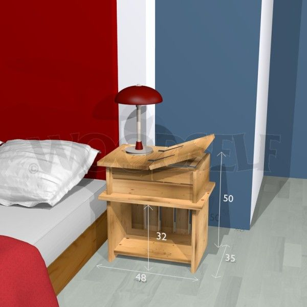Nightstand Woodworking Plan Night Stand Or Bedside