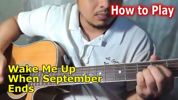 How to Play Wake Me Up When September Ends Greenday easy chords Guitar t...