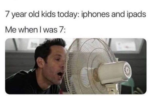 Zufälliger Humor: 35 lustige Bilder und Meme ~ Kinder heute iPhones iPads klebe… – ein lustiger Mann