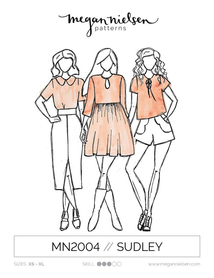 Sudley dress & blouse - Megan Nielsen
