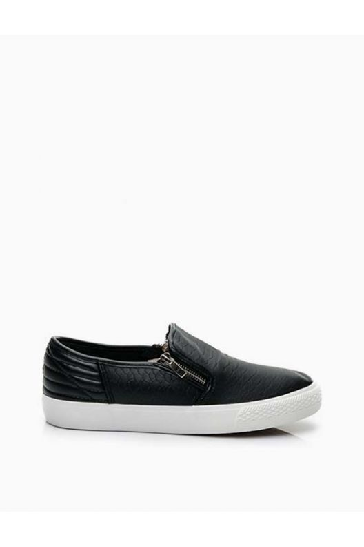 Tom - skater snake shoes black