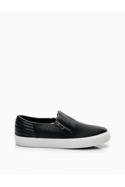 Tom - skater snake shoes black