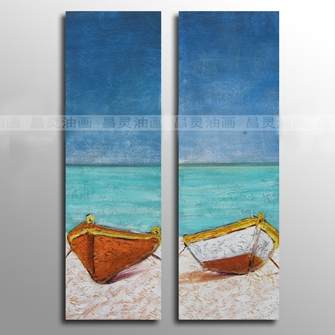 Beach the ocean rectangle frameless oil painting(China (Mainland))