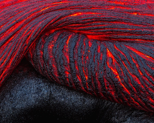 Folding Lava – Hawaiian Lava Flow - The Big Island, Hawaii – Justin Reznick