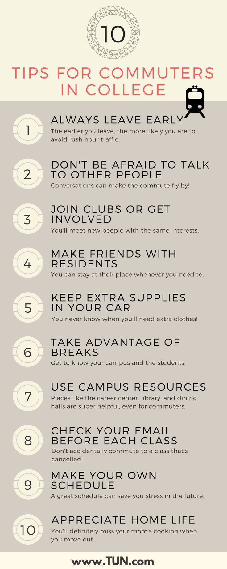 Lifetips College tricks for college commuting pictures