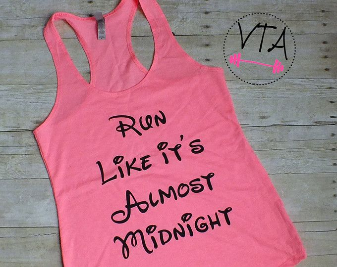 Disney Inspired Workout Tank Running Beauty by VersionTwoApparel