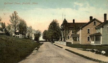 Norfolk, Massachusetts, USA (North Wrentham) - Railroad Street, Norfolk, Mass.