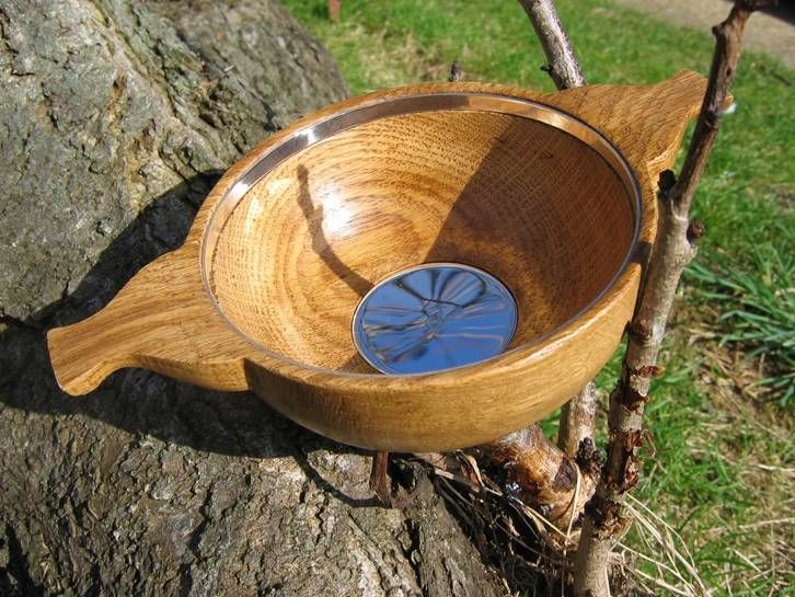 These quaichs make perfect presents for a whisky aficionado; hand-turned from hardwood and with your choice of engraving on the solid silver base and rim £150.00 plus p&p, 6 weeks to deliver #whisky#quaich #whiskylover