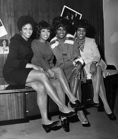 "Cissy Houston, Myrna Smith, Sylvia Shamwell and Estelle Brown of The Sweet Inspirations in London in 1968 to promote their single ""What the World Needs Now"". Photo: Hulton-Deutsch Collection/CORBIS"