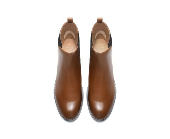 ZARA - WOMAN - LEATHER CHELSEA BOOT