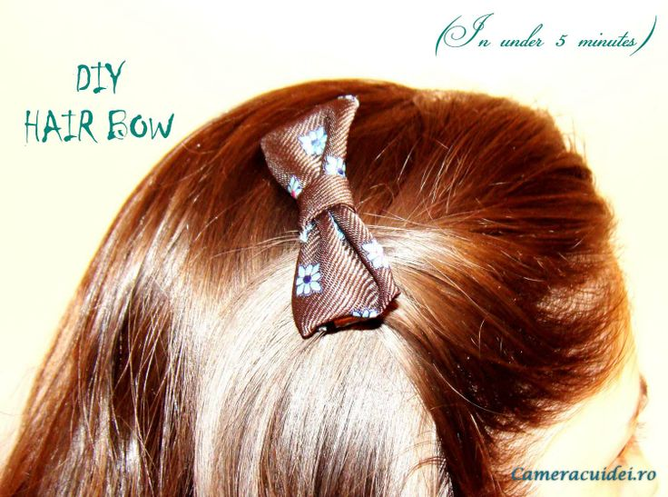 DIY #hair #bow in just under 5 minutes