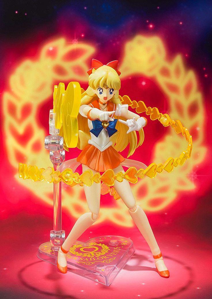 Super Sailor Venus Tamashii Nations Figuarts action figure #sailormoon #anime #sailorvenus #venus #manga #geek #nerd #cartoons