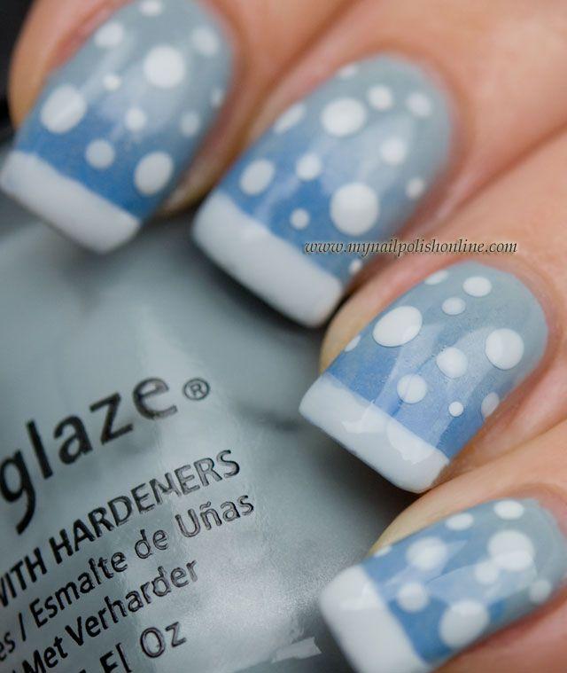 China Glaze Sea Spray and Orly Snowcone from My Nail Polish Online.