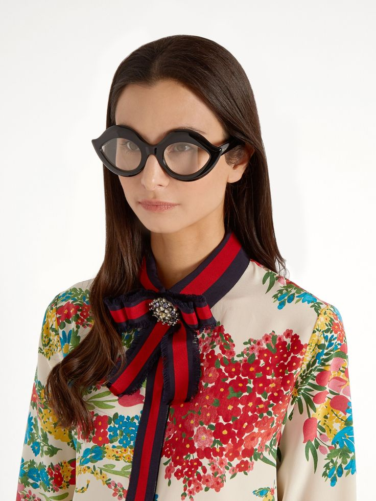 Click here to buy Gucci Cat-eye acetate glasses at MATCHESFASHION.COM
